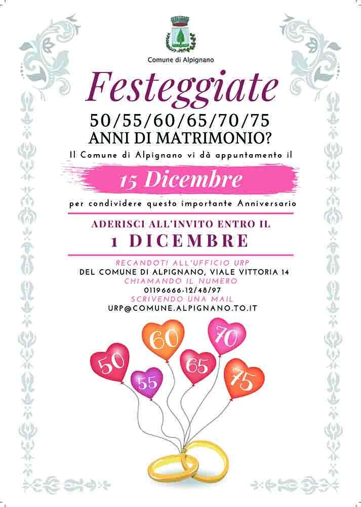 65 Anniversario Di Matrimonio.Ad Alpignano Si Festeggiano Le Coppie E Il Matrimonio L Agenda News