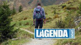Escursionista sentiero